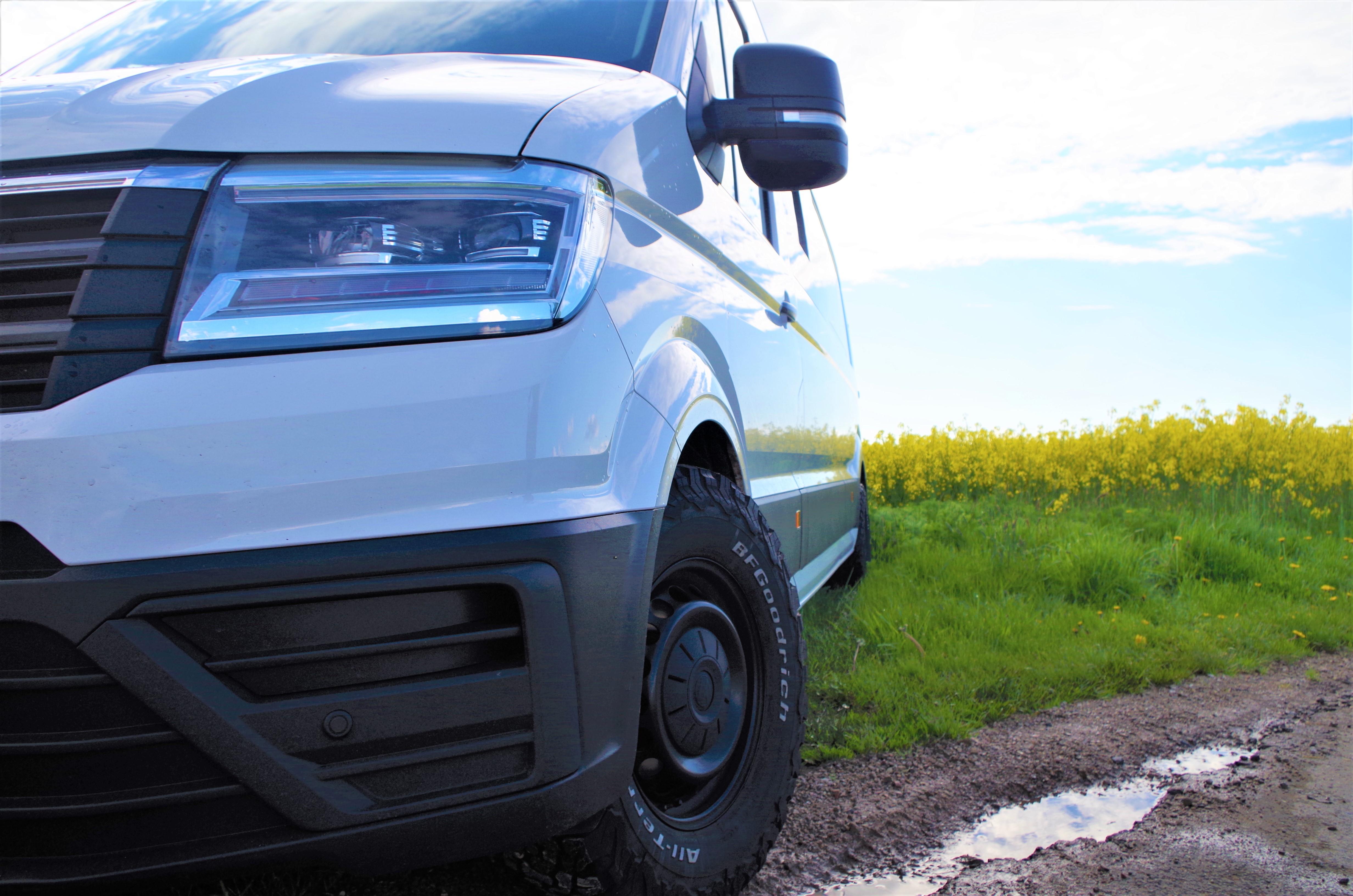 VW Crafter umbereifung offroadreifen offroad reifen 255/70R16 BF Goodrich General Grabber AT3